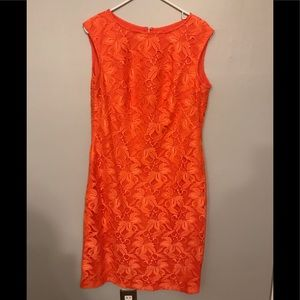 KASPER PEACH DRESS